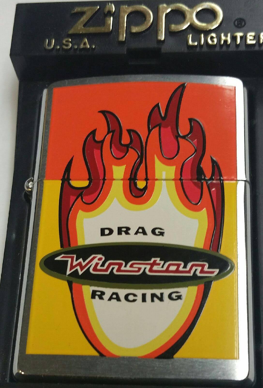 Zippo lighter Winston NHRA Drag Racing 2 Sided Cigarette RJR MNT