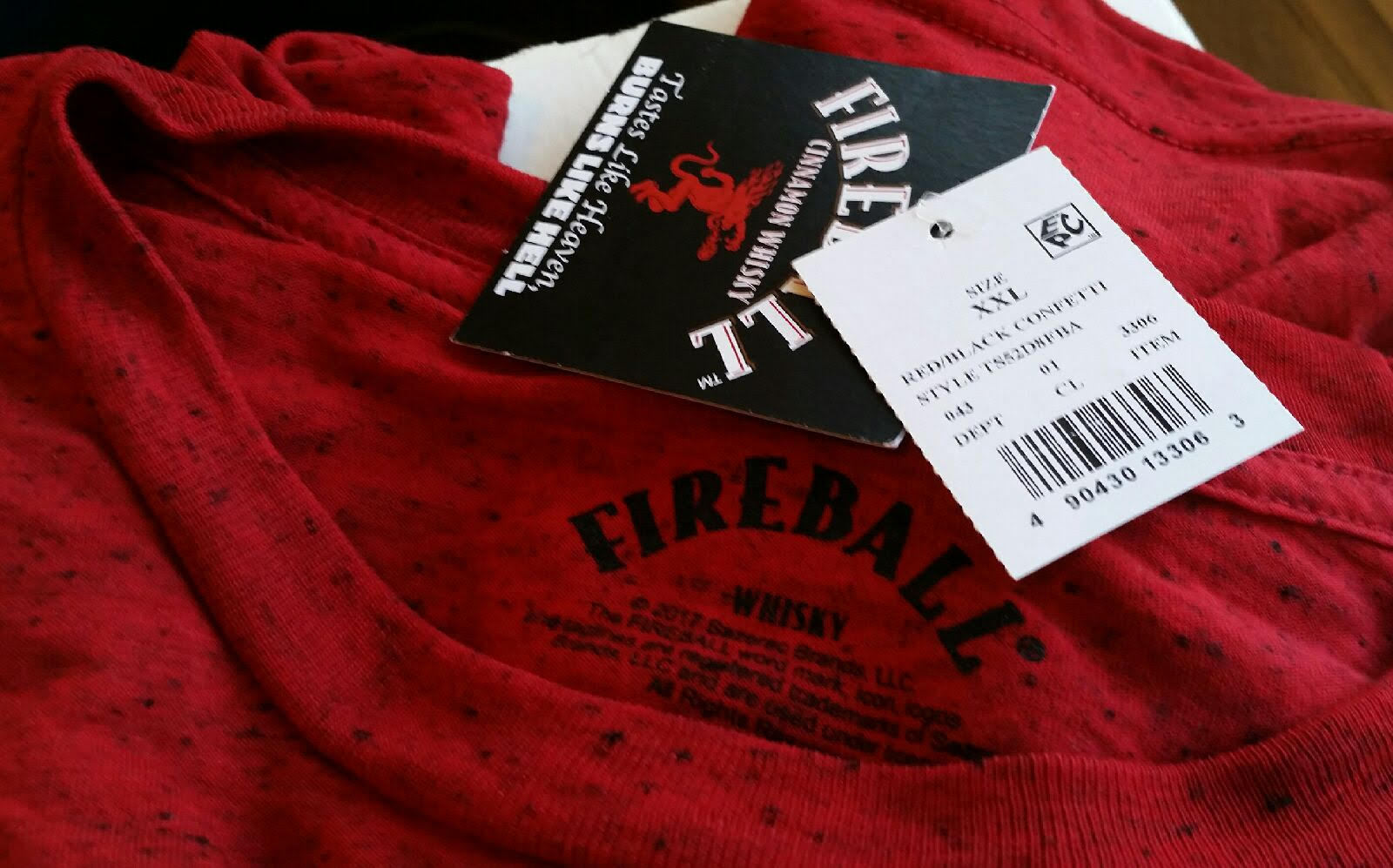 9c8fe3cb66c9d2 Fireball Whisky tshirt Officially Licensed T shirt Brand New with tags XXL  2X !!